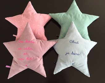Cushion star message or name