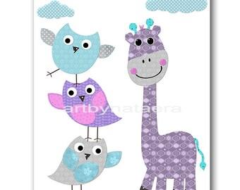 Instant Download Print Digital Download Art Printable Nursery Print Kids Wall Art Kids Art Baby Girl Nursery Decor Digital Print 8x10 11X14