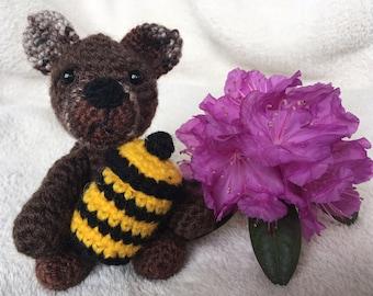 Amigurumi little bear, stuffed crochet bear