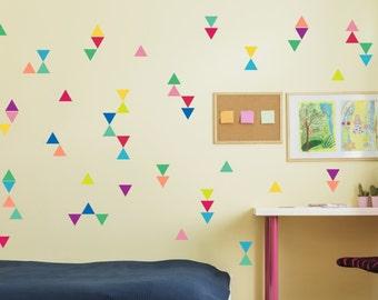 Triangle Wall Decals, Triangle Confetti, Nursery Art, Removable Stickers, Triangle Decals, Confetti Decals, Kids Wall Decals, Wall Decal
