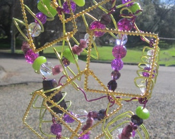 Outside The Box - Purple and Green - Sun Catcher- #106