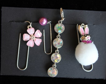 Travelers Notebook Paperclip Accessories, Charms, Bling, Junk Journal Gift Set