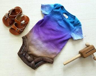 Ombre bodysuit, Ombre Onesie, Tie Dye Onesie,Boho Baby Clothes, Bodysuit, Hippie Baby,  Baby shirt, Toddler, Shirt, Hand Dyed Bodysuit, Gift