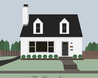 Custom House Portrait Illustration