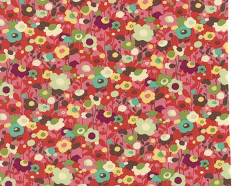 Cotton Quilting fabric | Avant Garden Cherry Poppin Poppies 16126 12 | Momo