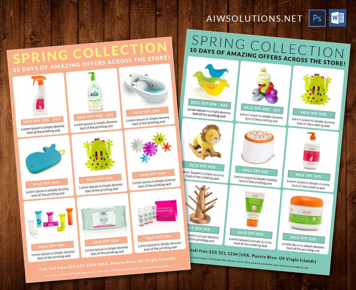Editable catalogproduct sale off catalog sale off flyer for Sales catalog template