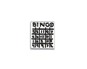 Bingo Card Floating Charm