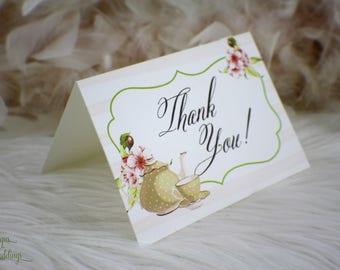 Thank You Cards / Tea Party / Teapot / Teacup / Thanks