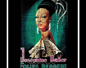 592 Josephine Baker Vintage Dictionary Art