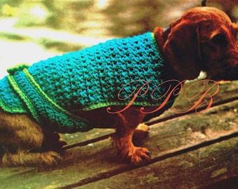 Crochet Dog Coat --- Dog Pattern --- PDF Crochet Pattern --- Great Market or Fair Item --- Digital Download