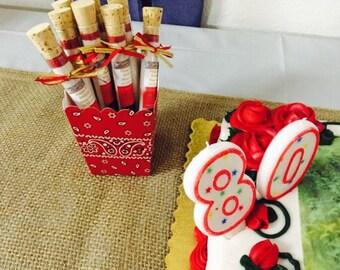 Apple cider Test Tube Birthday Favors, 80th Birthday Favors, Apple Cider, 70th Birthday Favors, 60th Birthday Favors, 50th Birthday Favors
