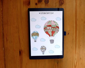 Hot Air Balloons Decorative Bullet Journal and Planner Stickers