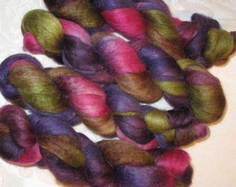 Handpainted Roving -- BFL Wool/Silk