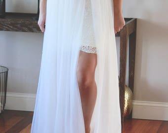 Tulle Skirt, Detachable Wedding Soft Tulle Skirt, Tulle Maxi Skirt, Bridal Tulle Skirt, Wedding Skirt, Lace Wedding Dress, Wedding Separates