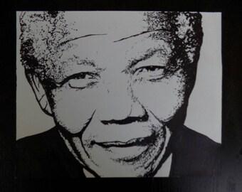 My Original Sharpie Art drawing of Nelson Mandela.
