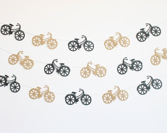 Bicycle Party Banner - Customizable Colors