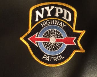 NY State city of NY Highway Police (rare) embroidered purchasing 1 patch only) others shown are a display of those also available