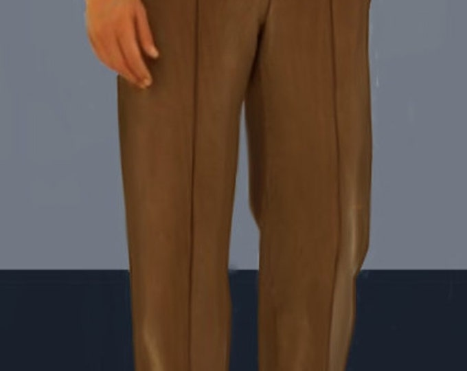 Classic men's pants, 4 patterns for different sizes