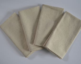 "Muslin Napkins, Natural Napkins, Set of four, Cloth Napkins, 17"" x 17"" Napkins, Tan Napkins, Home Decor, Kitchen Napkins"