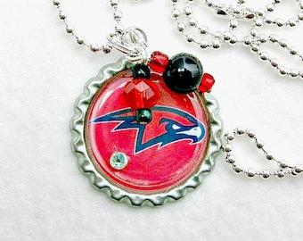 Atlanta Hawks Necklace, Atlanta Hawks Jewelry, Atlanta Hawks Accessories, Atlanta Hawks Basketball, Basketball Jewelry, Hawks Woman