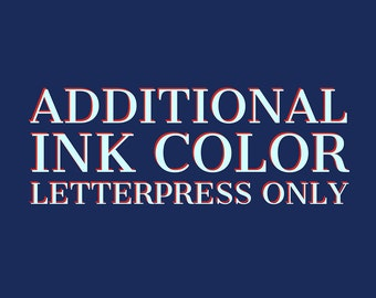 2nd Color Letterpress Add-On Service