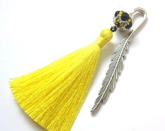 Graduation Gift, Unique Bookmarks, Librarian Gift, Yellow Tassel Bookmarks, Gift for Readers, Teacher Gift, Readers Gift, Gift for Her