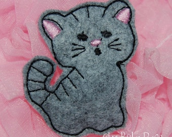Sweet Kitten Wool Felt Hair Clip by Chic Baby Rose
