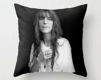 Patti Smith Decorative Pillow, Square pillow with\ without zipper