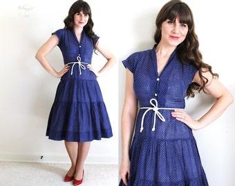 1950's Dress / 50's Dress / Blue 50's Dress