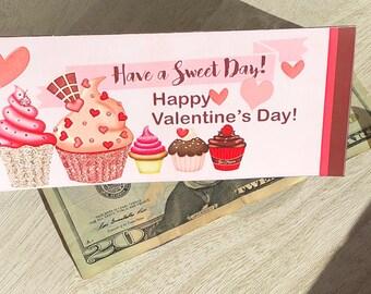 Valentine's Day Money Envelope,  Money holder, Holiday Money Envelope,Valentine's Money Holder.  Set of 10