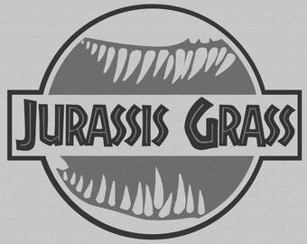 Jurassis Grass T Shirt Dinosaur Jurassic Park