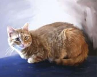 Custom Pet Portrait - Fine Art Oil Painting from Your Photograph - 16x20