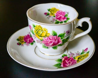 Mid-century vintage teacup and saucer, UCAGCO
