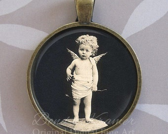 Vintage Cupid Pendant ~ Angel ~ Cupid jewelry