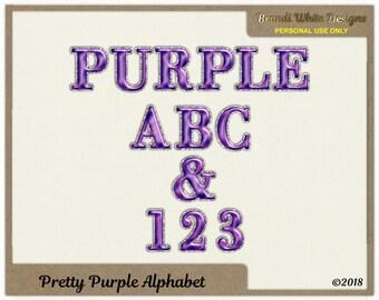 Pretty Purple Alphabet for Digital Scrapbooking