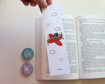Traveller Squirrel  - Squirrel Bookmark Collection