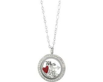 I Love Mom Living Memory Locket Necklace