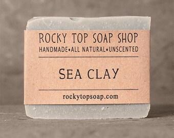 Sea Clay Soap - All Natural Soap, Handmade Soap, Unscented Soap, Detox Soap, Vegan Soap
