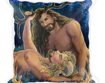 Cernunnos Herne Pan Square Pillow