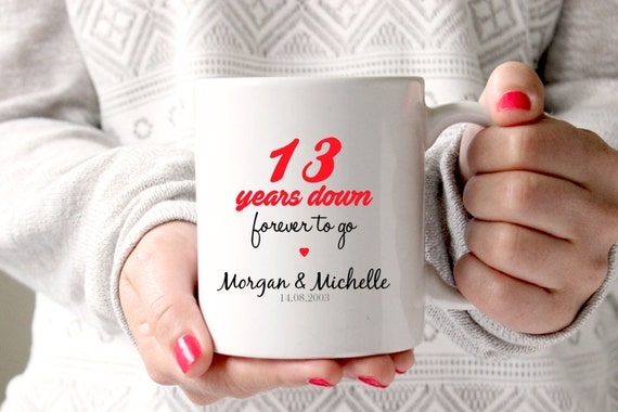 13th anniversary gift 13th wedding anniversary 13th