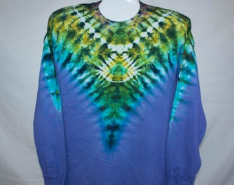 Adult Large, Colorful Psychedelic Dip Dye, 100% Cotton