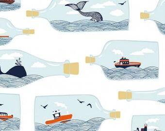 Nautical Crib Bedding - Whale Crib Sheet /Contoured Changing Pad Cover /Boys Baby Bedding / Nautical Nursery /Ocean Crib Bedding