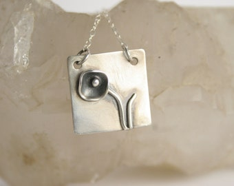 Contemporary Sterling Silver Necklace