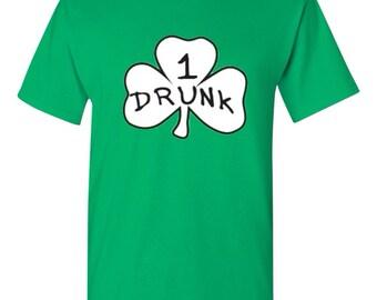 Drunk Men Shirt Men Tshirt St Patricks Day Inspired Shirt Clover Drunk Shirt Thing I Thing 2