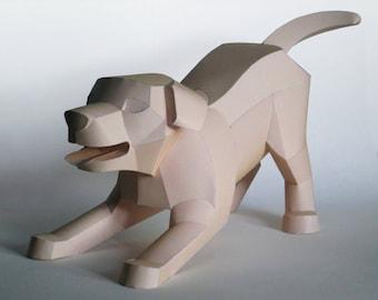 Dog Papercraft Booklet - DIY Template