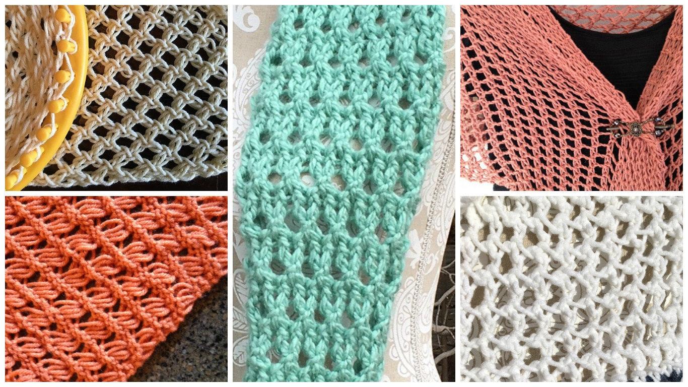 Stitches eBook - 5 unique loom knit stitch patterns