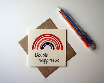 Double Happiness Letterpress Greeting Card