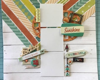 You are my Sunshine, 12x12 double page layout