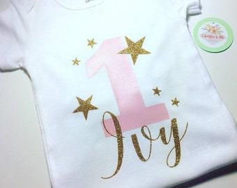 Twinkle Twinkle Little Star Birthday Shirt