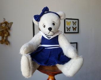 """Alpaca teddy bear, Artist Teddy bear, OOAK Mohair Teddy bear 10 """",  handmade teddy bear, OOAK artist teddy bear"""